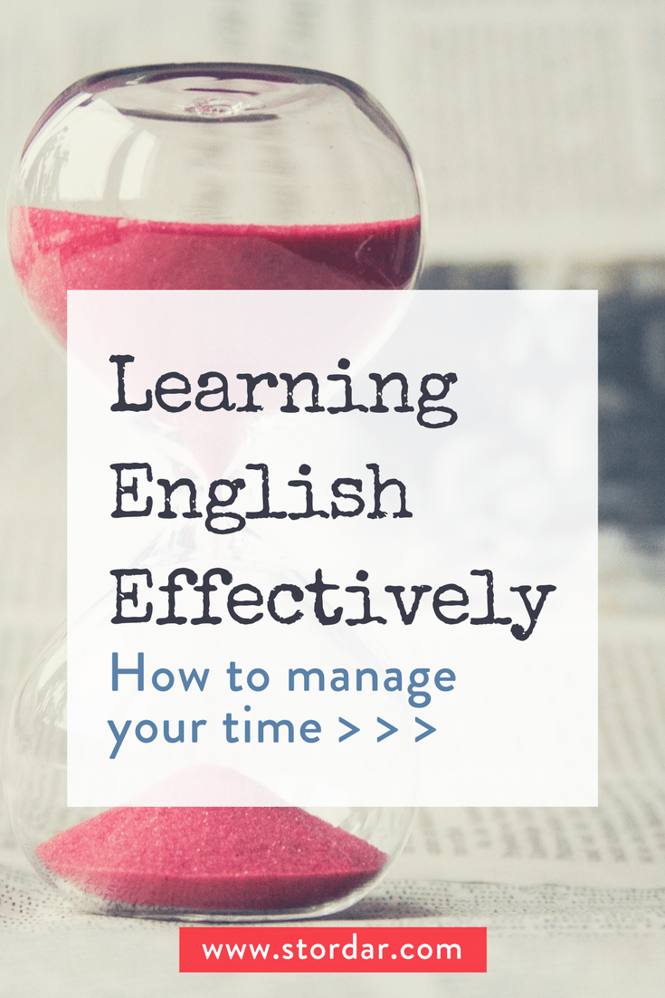 Pinterest | Learning English Effectively: How to manage your time