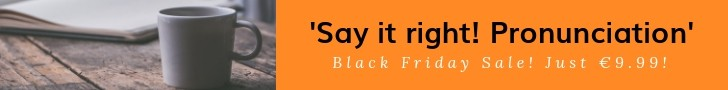 Black Friday Sale: Say it right. Course of Pronunciation Rules