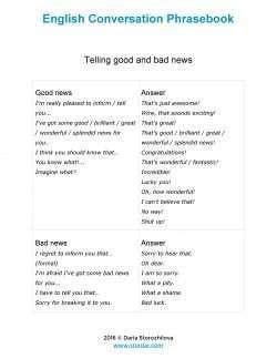 English Conversation Phrasebook Sample Page 1